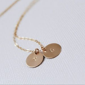 Jewelry - Personalized Initials Necklace, 2 Discs.